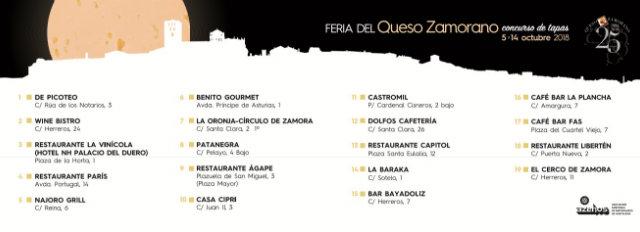 Listado de participantes en la I Feria del Queso Zamorano - Pulsa para abrir en grande - Destino Castilla y León