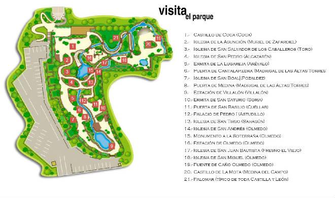 Mapa del Parque temático del Mudejar - Destino Castilla y León