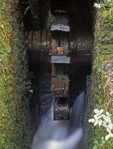 Turbina de agua de la herrería de Compludo