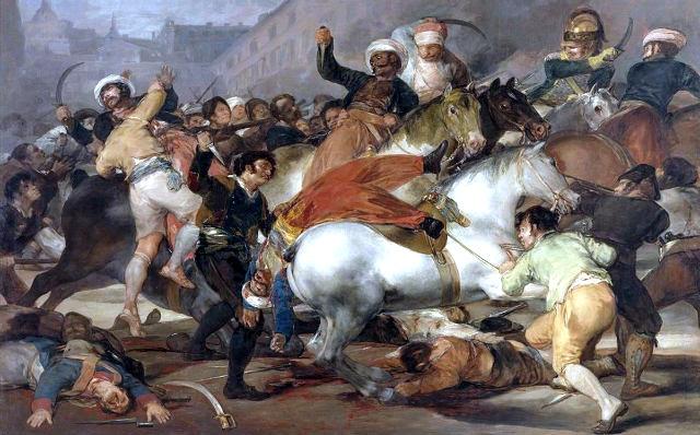 Carga de los Mamelucos del 2 de mayo de 1808, inmortalizado por Goya
