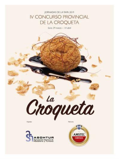 Cartel del IV Concurso Provincial de la Croqueta de Soria