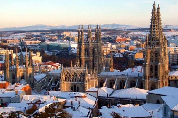 Catedral de Burgos nevada - Imagen abc