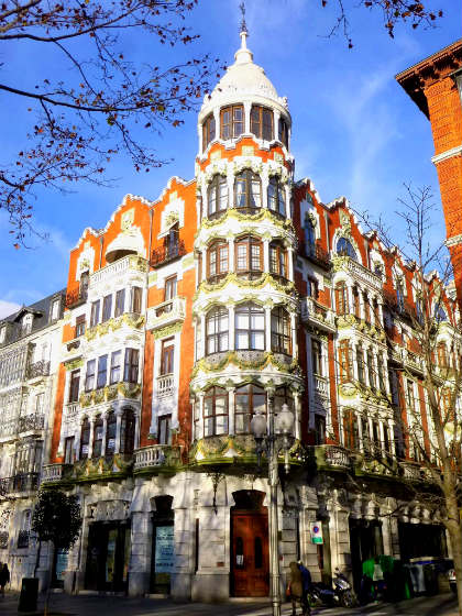 Edificios de la Acera Recoletos de Valladolid - Imagen de Wikipedia