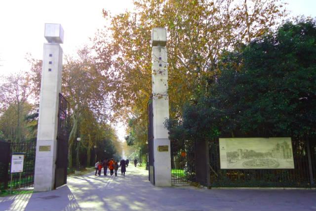 Entrada al Campo Grande - Imagen de Un Paseo por Valladolid