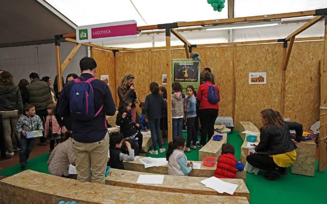 La ludoteca, un espacio para peques en la propia Feria de Enoturismo