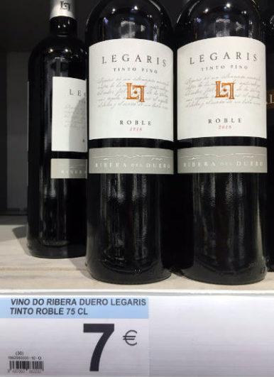 vinos por menos de 10 eurosLegaris Roble 2017