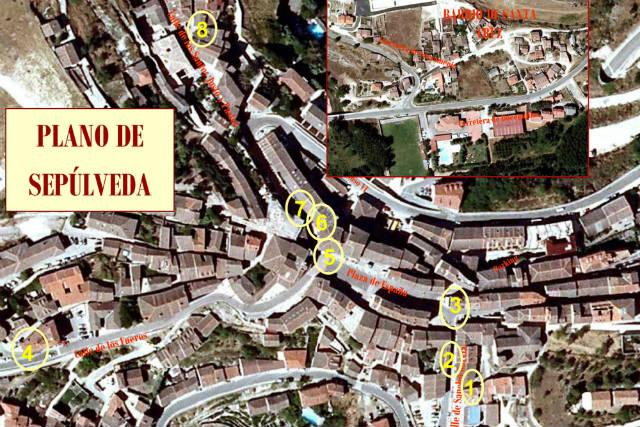 Mapa de bares y restaurantes de la Feria de la Tapa - pulsa para abrir en grande
