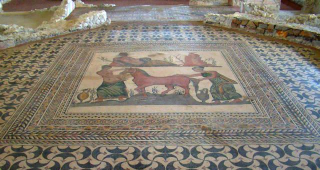 Mosaico de la Villa romana de Almenara Puras
