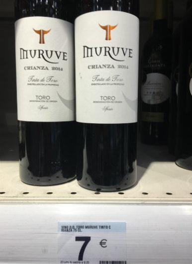 vinos por menos de 10 eurosMuruve Crianza 2014