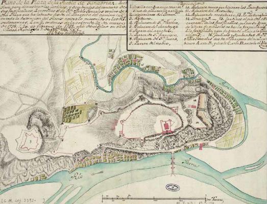 Planos de las murallas de Puebla de Sanabria