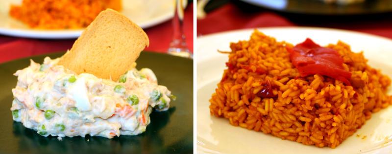 Primeros platos, ensaladilla rusa y paella - Destino Castilla y León