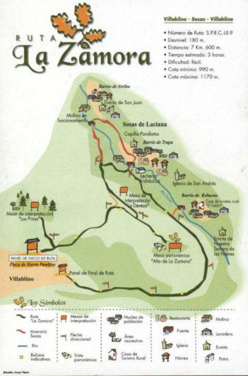 Rutas de senderismo hacia el Castro La Zamora - Pulsa para abrir en grande