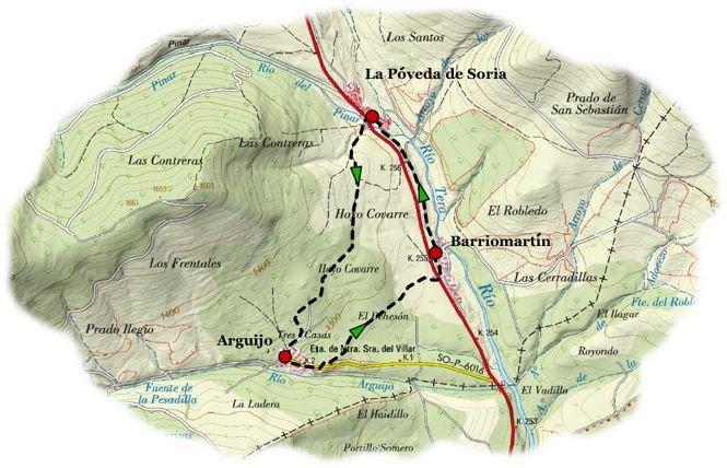 Sendero Los Pueblos del Puerto de Piqueras Soria - Fuente: http://www.terranostrum.es