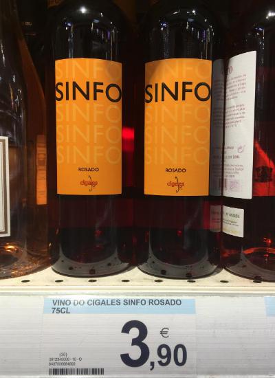 vinos por menos de 10 eurosSinfo rosado 2017