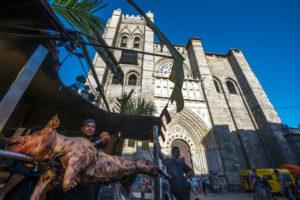 Catedral de Ávila durante el mercado medieval