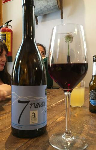 Botella de vino tinto roble 7 Navas - Destino Castilla y León