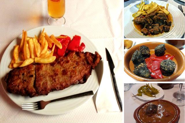 Diferentes platos de los restaurantes de Belorado - Composición de Destino Castilla y León