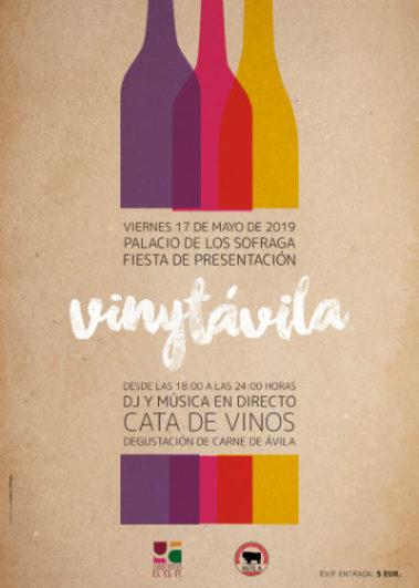 Cartel de la Fiesta Presentación del VinytÁvila 2019