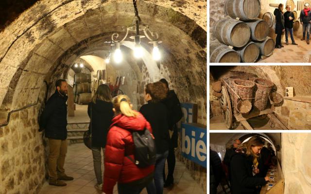 Interior de las Bodegas de Ribiertete en Aranda de Duero - Destino Castilla y León