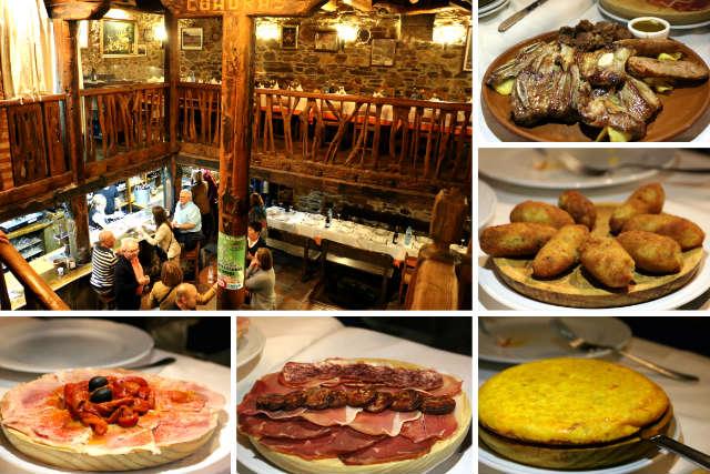 Cena a base de raciones a compartir en el Mesón Bodega Las Cuadras de Ponferrada - Destino Castilla y León
