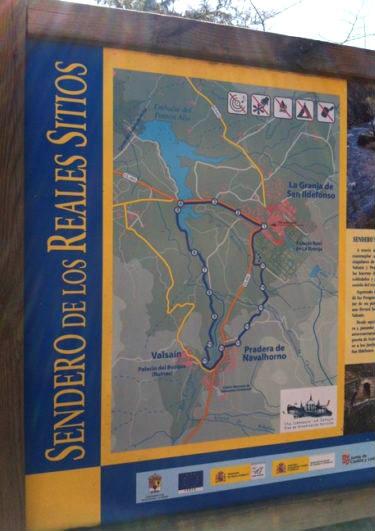 Mapa de la Ruta de los Reales Sitios - Destino Castilla y León