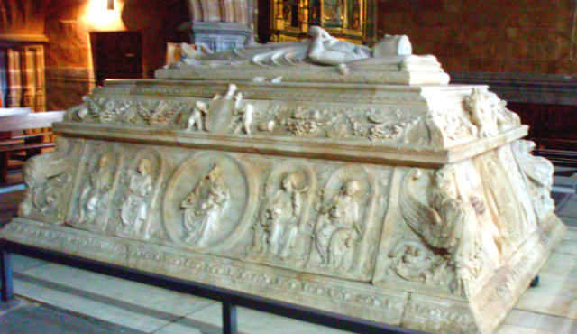 Tumba del Principe Juan, hijo de los Reyes Católicos en el Monasterio de Santo Tomás - Imagen de Avila360