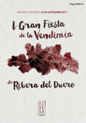 Cartel de la fiesta de la vendimia de Aranda de Duero - Imagen de la Ruta del vino