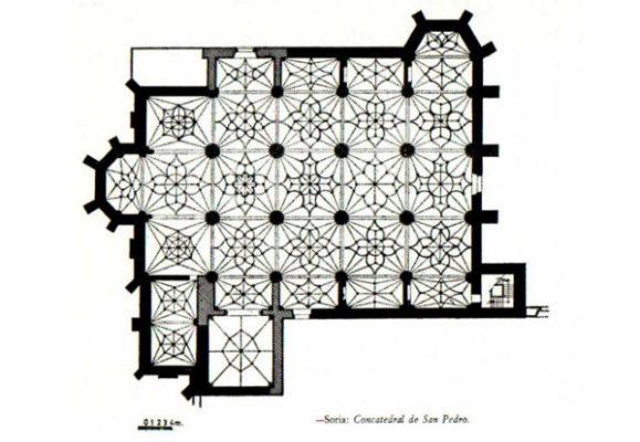Planta de la Concatedral de San Pedro de Soria - Imagen de EligeSoria