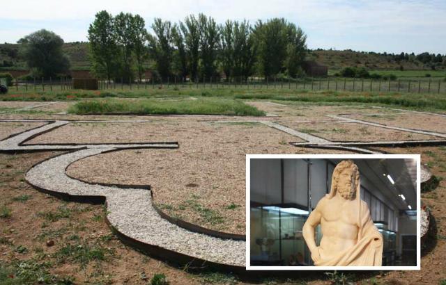 Yacimiento arqueológico de la villa romana de Los Quintanares de Rioseco - Imagen de GuíaSoria