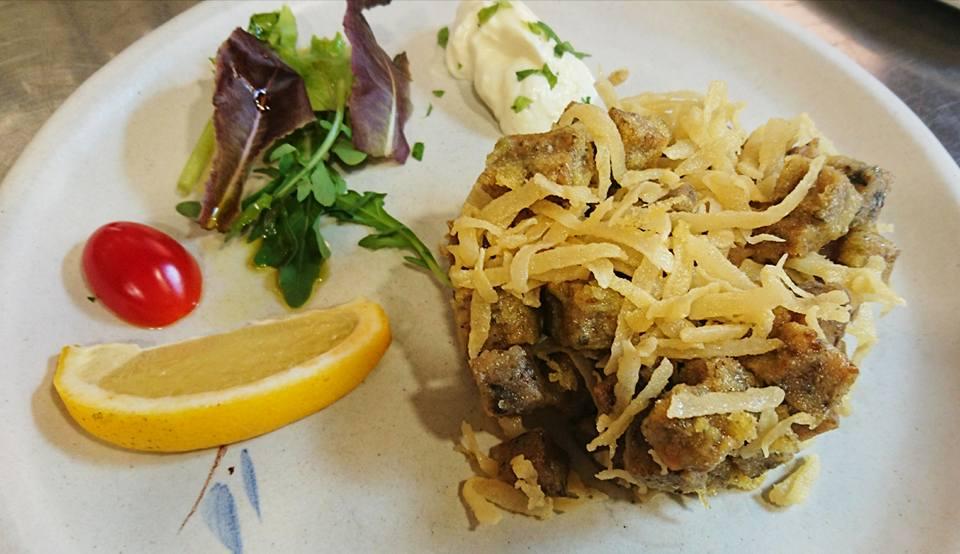 Plato de chopipitos en el restaurante el Berenjenal