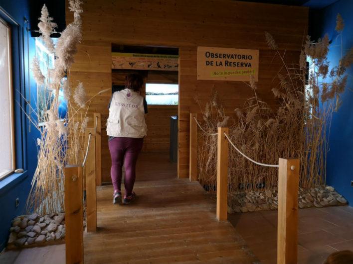 Sala para la observación de aves en la Casa de la Reserva de Castronuño
