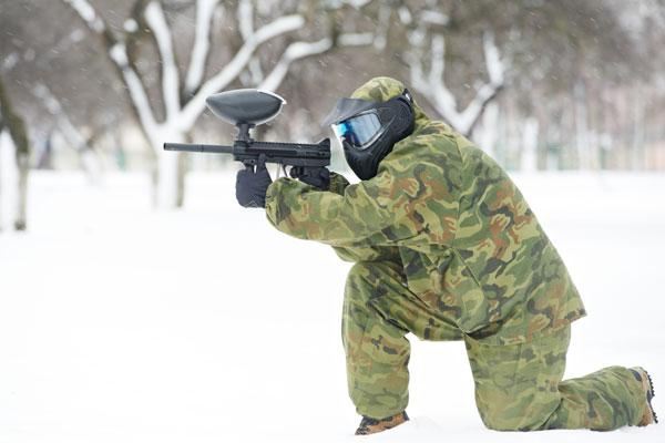 Paintball en la nieve. Fuente: Bierzo Natura