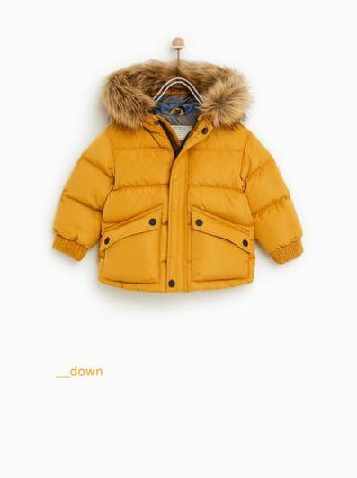 plumifero de Zara con capucha