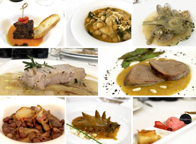 Platos del Menú de las Jornadas del Puchero en el Restaurante Las Baronas - Destino Castilla y León