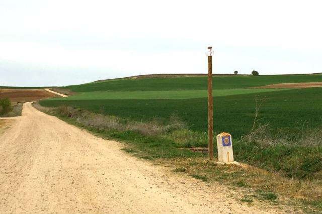 Camino de Santiago a la salida de Nava del Rey - Destino Castilla y León