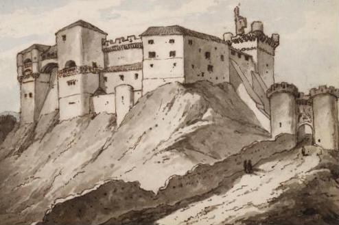 Gravado del Castillo de Benavente en su época de esplendor - Imagen de Historia desde Benavente