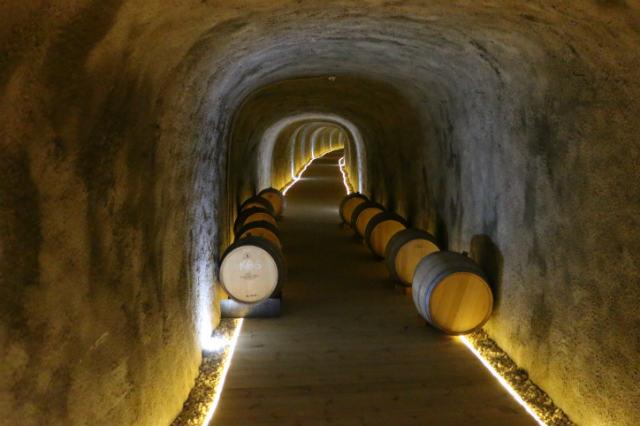 Túnel acceso excavado desde el restaurante a la bodega tradicional - Destino Castilla y León