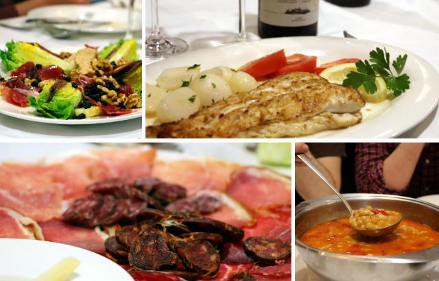 Muestra de platos del menú del Mesón Ezequiel - Destino Castilla y León