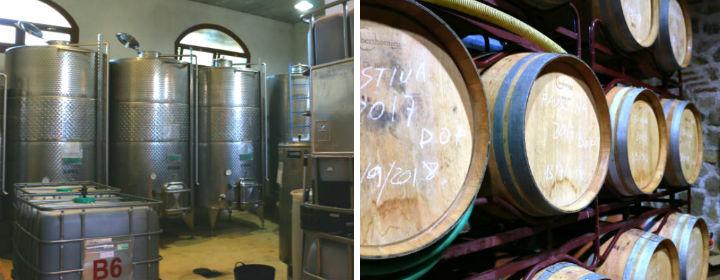 Sala de elaboración y sala de barricas de la bodega 7 Navas - Destino Castilla y León