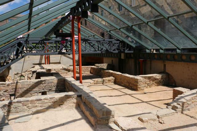 Yacimento a la vista del la domus romana - Destino Castilla y León