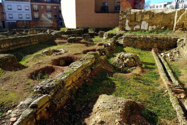 Yacimiento próximo a la Plaza España de la ciudad romana de Asturica Augusta