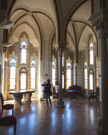 Interior del Museo de los Caminos de Santiago en el Palacio Arzobispal de Astorga