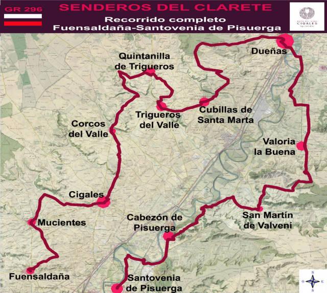 Mapa de Senderos del Clarete