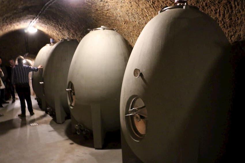Fermentación del vino en huevos de hormigón