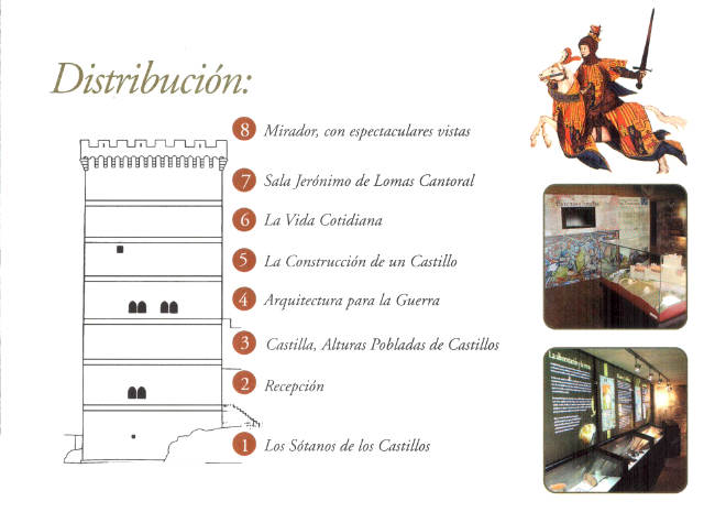 Distribución del Centro de Interpretación de los Castillos de Peñaranda de Duero - Destino Castilla y León