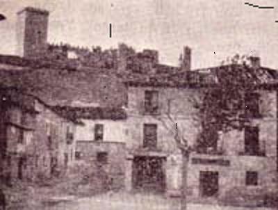 Imagen de inicios del siglo XX del Castillo de Peñaranda - Imagen de verpueblos.com