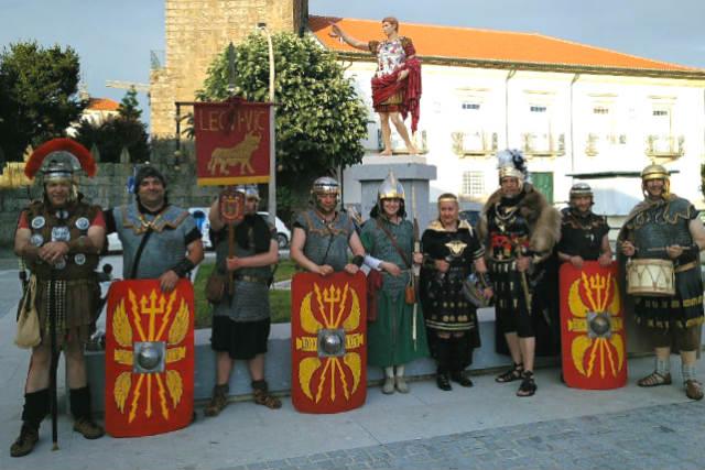 Grupo de recreaciones históricas con la Legio VI Victrix - Imagen de Astorga Redacción