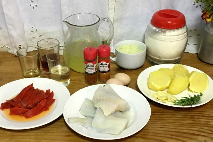Ingredientes para un bacalao a la tranca - Destino Castilla y León