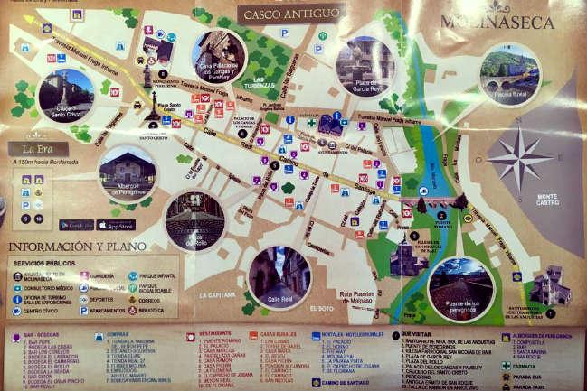 Mapa turístico de Molinaseca - Pincha para ver en grande