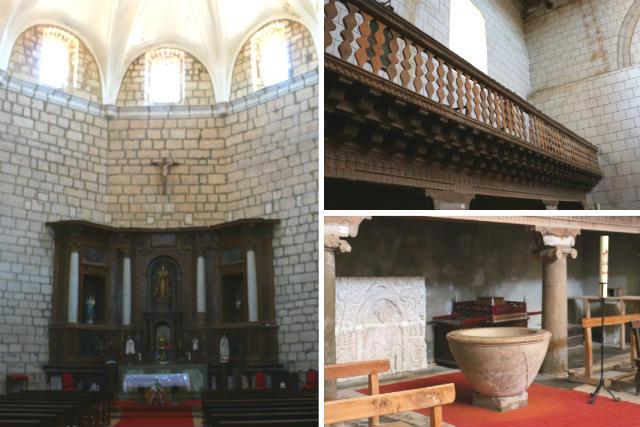 Interior de Santa María del Azogue de Urueña - Destino Castilla y León